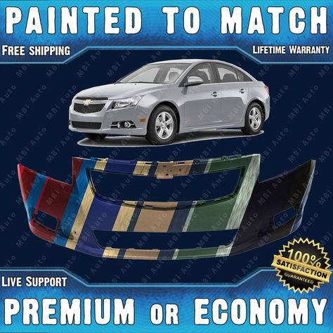 Painted To Match Front Bumper Cover Replacement 2011 2014 Chevy Cruze Rs Trim With Images Chevy Cruze 2014 Chevy Cruze
