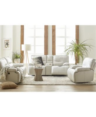 Mantella Leather Power Reclining Sofa Collection with USB Power ...