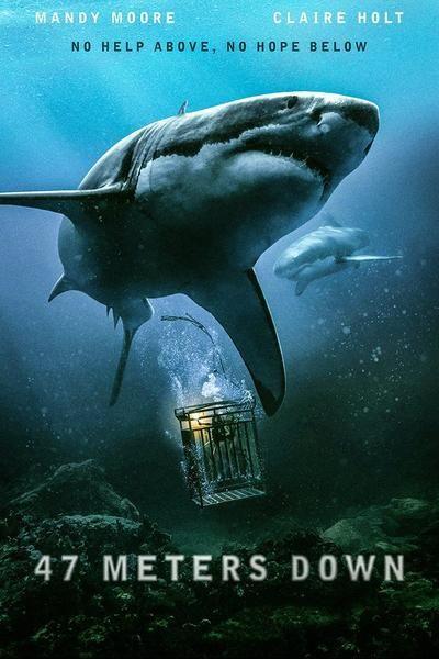 47 Meters Down Movie Poster | Tiburones en 2019 | Películas