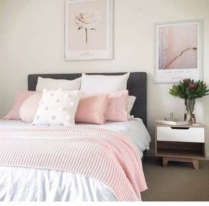 Bedroom Pink Cream Blushes 70 Ideas Bedroom With Images Pink Bedroom Decor Dusty Pink Bedroom