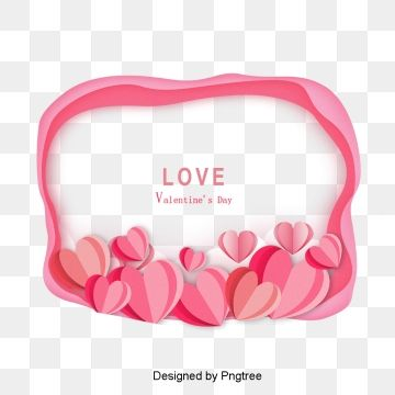 Lovely Frame With Hearts Valentine Day Lovely Frame Red Heart Png And Vector With Transparent Background For Free Download In 2021 Valentines Day Border Love Frames Love Png