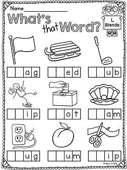 L Blends Worksheets and Activities | wrksheets | Blends worksheets ...
