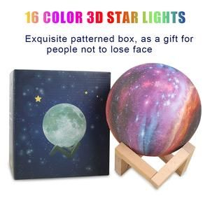 Luna Mystical Moon Lamp Moon Nightlight Home Goods Decor Star Lamp