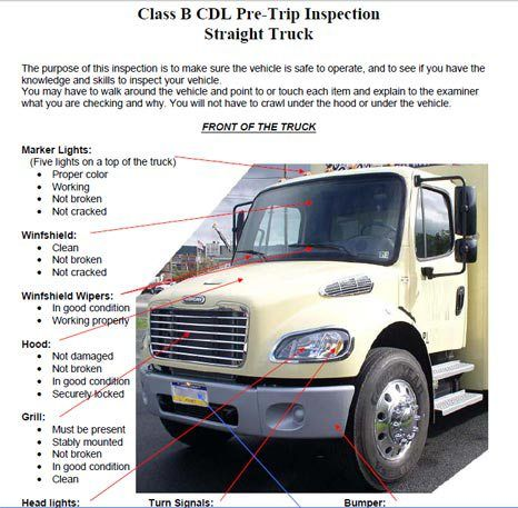 Pin By Cdl Training Texas On Cdl Pre Trip Inspection
