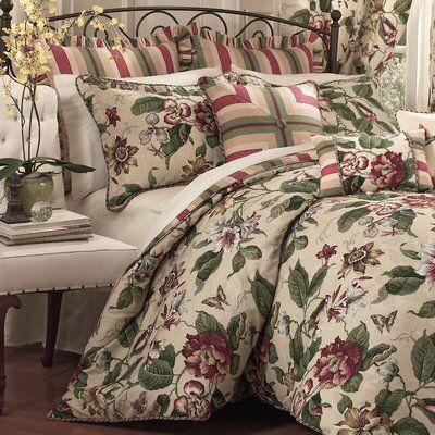 Laurel Springs 4 Piece Reversible Comforter Set In 2020 Comforter Sets Waverly Bedding Comforters