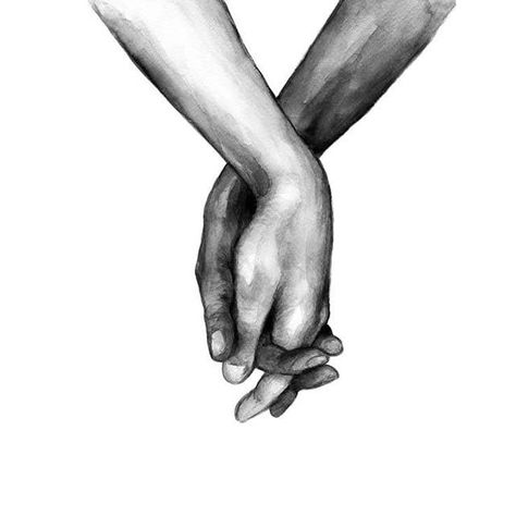 Black And White Holding Hands Canvas – Reval.store