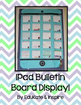 iPad Bulletin Board Display {Freebie!}