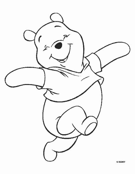 Baby Pooh Coloring Pages | Disneyclips.com | 600x468