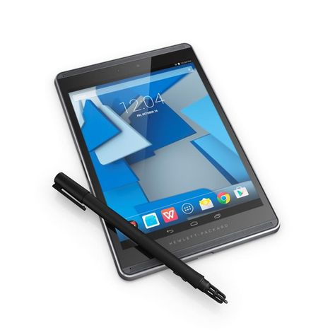 Hewlett Packard rolled out two new business-class Android tablets: the HP Pro Slate 12 ($569) and 8-inch Pro Slate 8 ($449), both of which come with the HP Duet Pen, a nifty electronic stylus that works with ultrasonic audio technology. Not only can the pen, developed with @qualcomm, write on the screen, but it can also write on paper and still have the virtual ink appear on the screen. For more on the new @hewlettpackard tablets, see my piece in the @nydailynews.