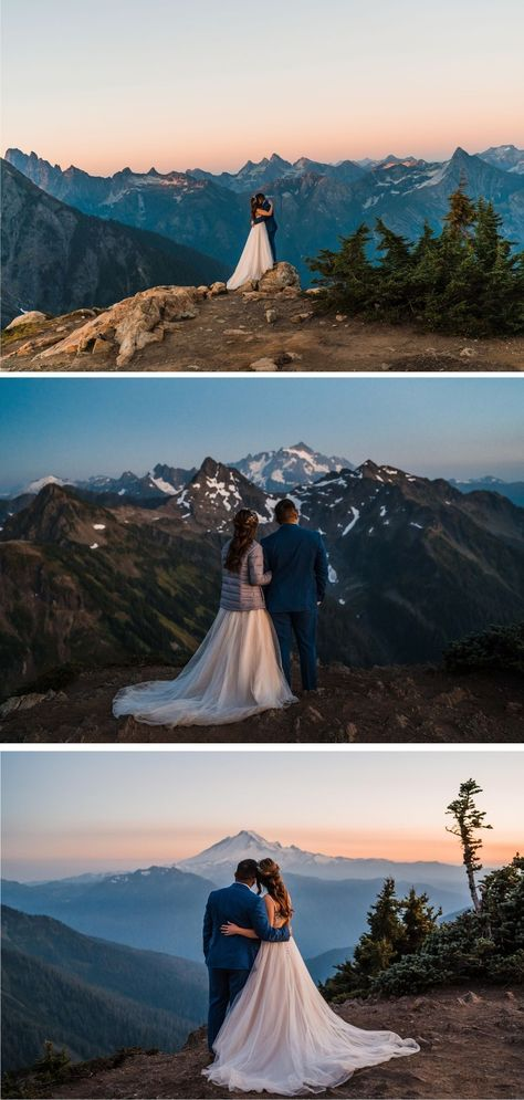 This stunning mountain wedding in the North Cascades included all of the ingredients for a perfect wedding day: family, food (umm. yes please), and of course, adventure! #adventurewedding #adventureelopement #elope #mountainwedding #mountainelopement #washingtonelopement #pnwonderland