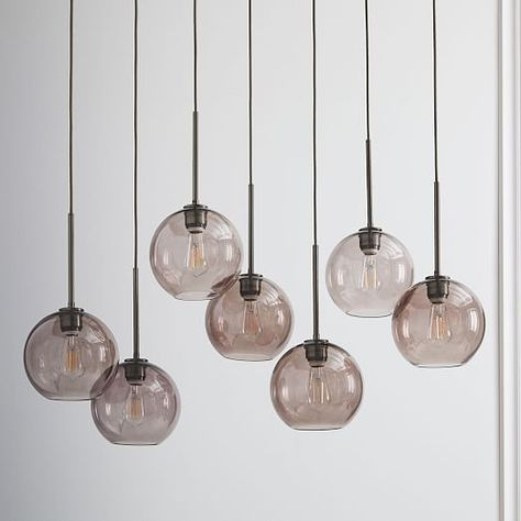 Build Your Own Sculptural Glass 3 Light Chandelier
