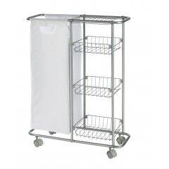 Wenko Sammelwagen Slim 3 Etagen Abnehmbarer Sack Kuchenwagen