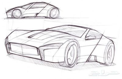 كيف تصنع السيارات Cool Car Drawings Car Sketch Cartoon Car Drawing