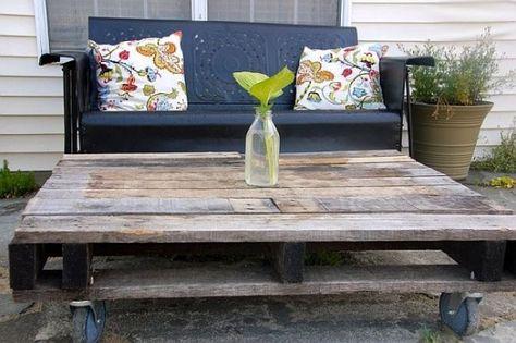 Palettes en bois -meubles et accessoires pour votre jardin | Astuces ...