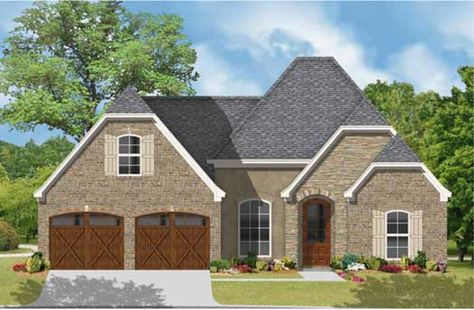 One of the defining characteristics of European House Plans is the subtle reminder or hint it gives one of the Old Country.  http://www.monsterhouseplans.com/european-style-house-plans-1697-square-footage-home-1-story-3-bedroom-and-2-bath-2-garage-stalls-by-monster-house-plans-plan83-117.html