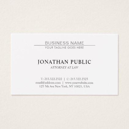 Trendy Attorney Law Office Lawyer Minimalist Plain Business Card