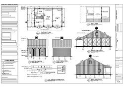 40x26 Barn Plan For Sale Barn Plans Barn Construction Barn Plan