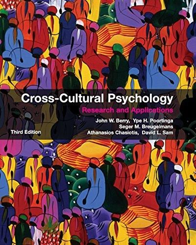 Cross-Cultural Psychology: Research and Applications - Default