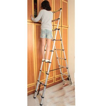 Thickening Household Aluminum Alloy Retractable Ladder Double Ladders Ladder  Multifunctional Retractable Ladder Loft | Хочу здесь побывать | Pinterest  ...