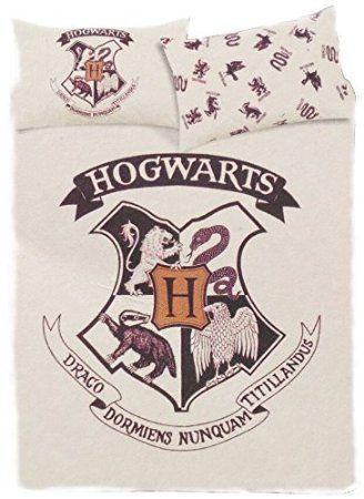 Copripiumino Harry Potter.Harry Potter Hogwarts Set Con Copripiumino Reversibile Black