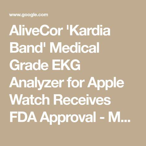 AliveCor 'Kardia Band' Medical Grade EKG Analyzer for