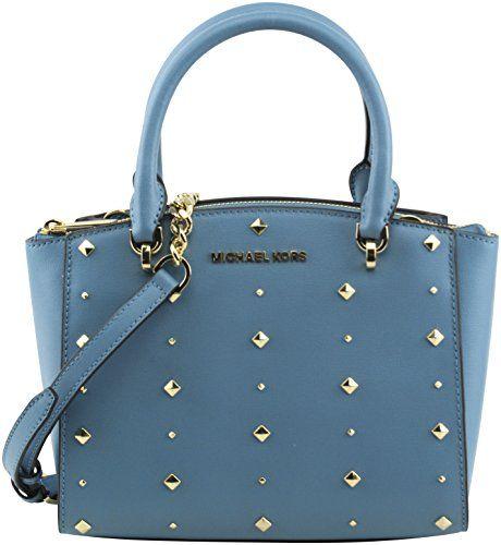 60274955ed4e New MICHAEL Michael Kors Women's Ellis Small Convertible Satchel Handbag  Crossbody, Style 35H7GEOS5L, Sky Blue Women Bag. [$160.9] topoffergoods  offers on ...