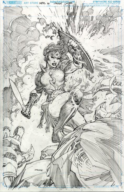 Metal 001 Wonder Woman alt cover by Jim Lee Comic Book Pages, Comic Book Artists, Comic Artist, Comic Books Art, Top Artists, Dc Comics Art, Comics Girls, Wonder Woman, Jim Lee Art