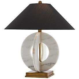 Currey And Company Felice White Marble Ring Table Lamp Lamps Plus Lamp Marble Rings