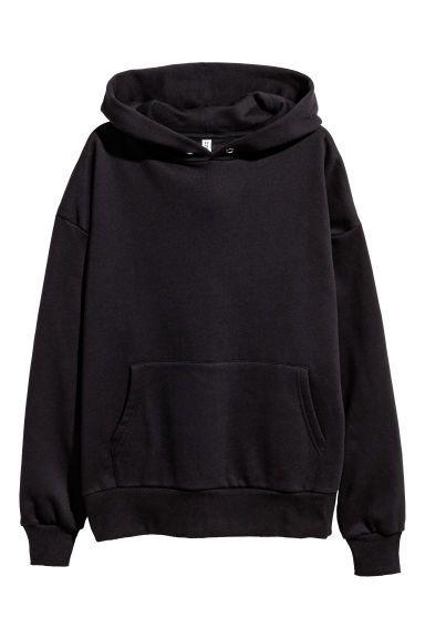 Oversized Hoodie Black Ladies H M Us Sweatshirts Hoodie Template Black Hoodie
