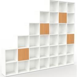 White Shelving System Flexible Shelving System Beech Doors High Quality Materials 272 X 233 X 35 White Shelv In 2020 Shelving White Shelves Recreational Room
