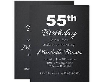 55th birthday 55 birthday party 55th