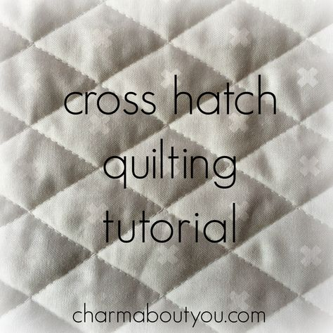 How to Machine Quilt a Cross Hatch Design | Machine quilting ... : cross hatch quilting - Adamdwight.com