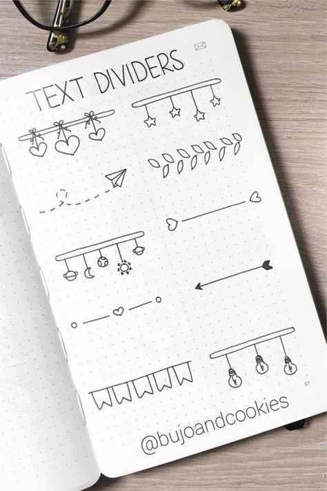 Best Bullet Journal Divider Ideas For 2020 - Crazy Laura - - Need to break up the different sections of your weekly spreads and need some ideas? Check out these awesome bullet journal dividers for inspiration! Bullet Journal School, Bullet Journal Dividers, Bullet Journal Banner, Bullet Journal Writing, Bullet Journal Aesthetic, Bullet Journal Ideas Pages, Bullet Journal Spread, Bullet Journal Title Page, Bullet Journal Leaves