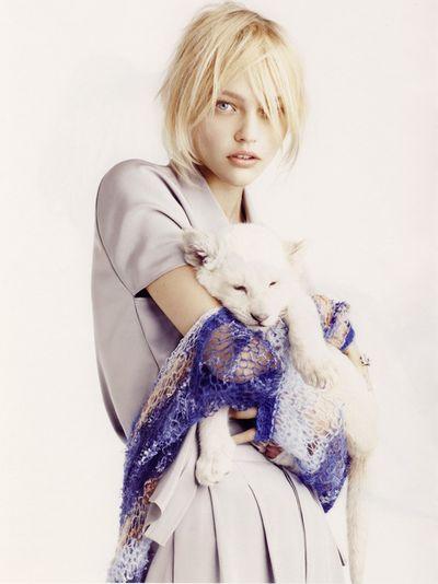 Sasha Pivovarova photographed by Mark Segal for Vogue Paris.