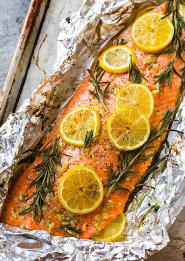 Baked Salmon In Foil Recipe Yummly Recipe Baked Salmon Salmon Recipes Baked Easy Salmon Recipes Oven