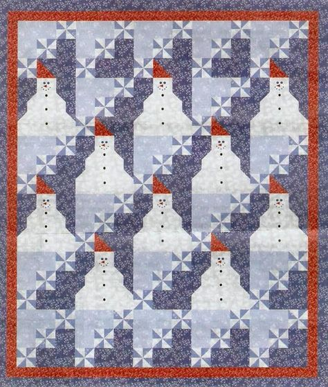 Quilt Inspiration: Free pattern download for Snow Days by A.E. Nathan.