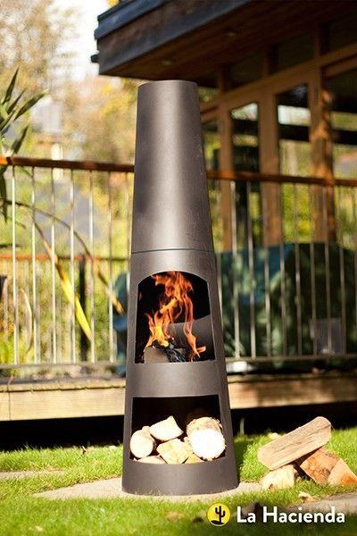 Contemporary Steel Chiminea Circo Waitrose Garden Patio Heater Modern Garden Chiminea