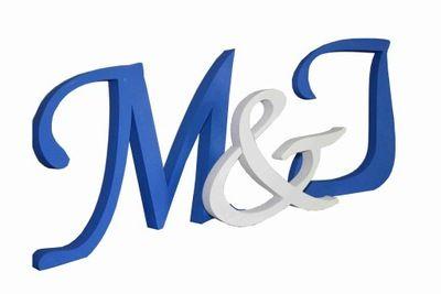 Litery 3d Inicjaly Slubne Pary Mlodej 26 Cm Symbols Letters