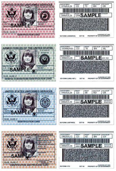 Blank Military Id Card Template Id Card Template Card Template