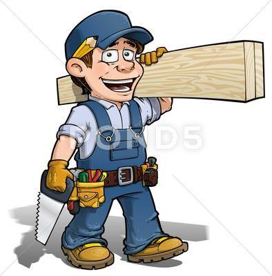 Handyman Carpenter Blue Stock Illustration Ad Carpenter