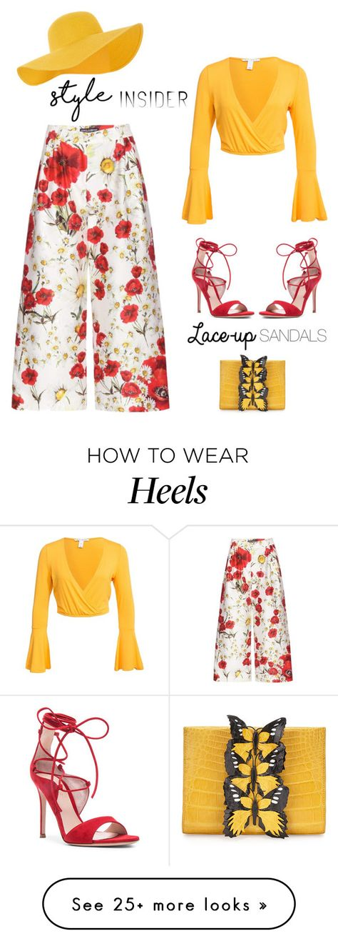 """""""Strapped In: Lace-Up Sandals'"""" by dianefantasy on Polyvore featuring Dolce&Gabbana, Gianvito Rossi, Nancy Gonzalez, NLY Trend, Accessorize, contestentry, polyvoreeditorial, laceupsandals and PVStyleInsiderContest"""