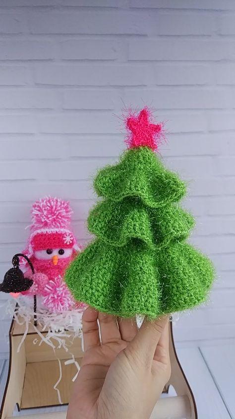 Amigurumi Christmas Tree Pattern - Crochet Christmas - Xmas Tree Pattern - Crochet Fir Tree tutorial - Knit spruce pattern - Christmas Decor - Christmas in July #crochetchristmas #christmasdecor #amigurumi #amigurumipattern #christmasinjuly