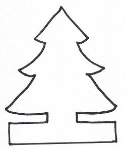 Christmas Tree Template For Paper Chain Christmas Tree Template Christmas Crafts Paper Doll Chain