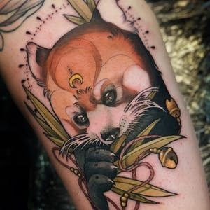 Where Nouveau And Deco Meet Neo Traditional Tattoos In 2020 Neo Traditional Tattoo Panda Tattoo Traditional Tattoo