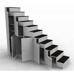 Meuble Escalier Pour Mezzanine Avec Rangements Sur Mesure Meuble