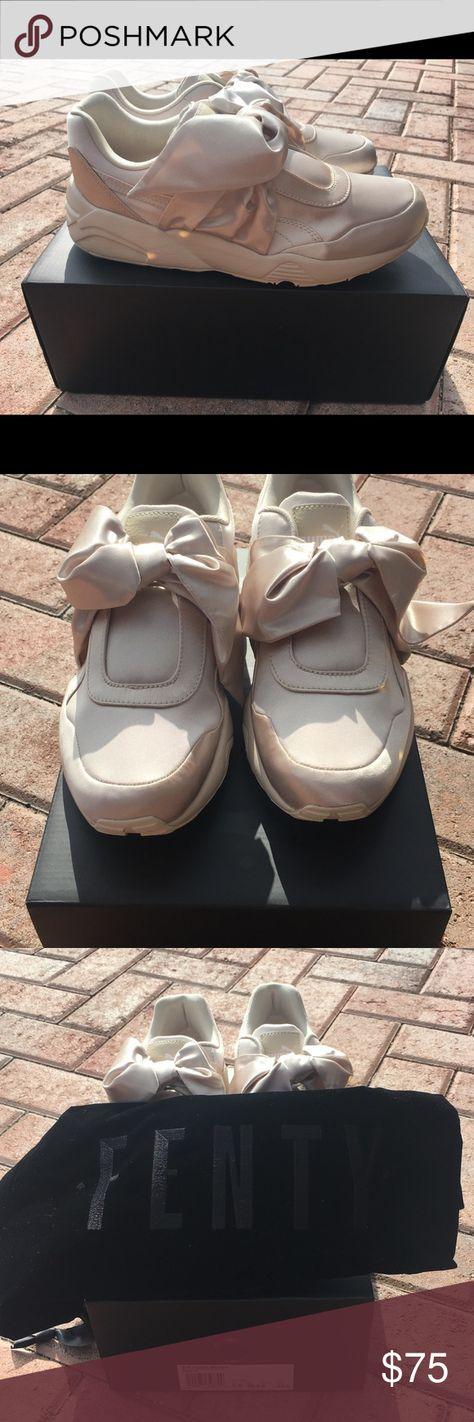 Puma women s Rihanna bow sneakers Puma women s pink tint gently Rihanna  sneakers Puma Shoes Sneakers ebd3487651f4