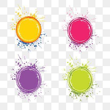 Four Splatter Abstract Color Splash Vector Brush Effect Abstract Color Splashes Png And Vector With Transparent Background For Free Download Paint Splash Background Paint Splash Watercolor Splash
