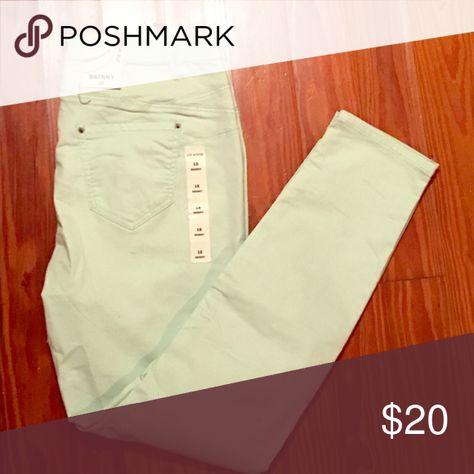 Brand new ! Mint green skinny jeans Brand new w/tags mint green skinny jeans joe boxer Pants Skinny