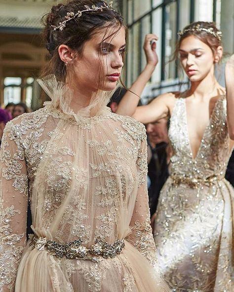 Runway: Zuhair Murad. Backstage Haute Couture Paris Fashion week Fall-Winter 2018