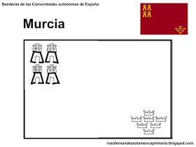 Banderas De Las Comunidades Autonomas De Espana Para Colorear
